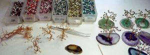 Atelier, Cristal en Boucles : table travail