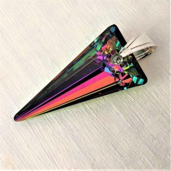 Pendentif Spike cristal Swaarovski Vitrail Médium argent