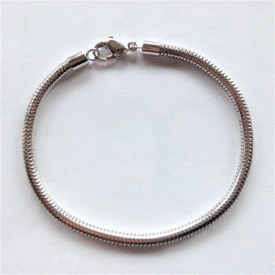 Bracelet en métal rhodié pour charms
