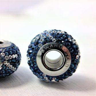 Charm Galaxy cristal Swarovski bleu Denim Blue