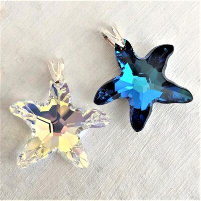 Pendentif-Etoile-de-mer-28-mm-en-cristal-Swarovski-et-bélière-argent-