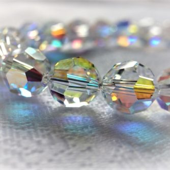 Collier de perles cristal Swarovski Aurore Boréale