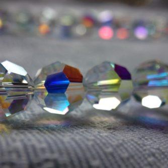 Collier de perles cristal Swarovski pierres du Rhin