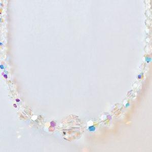 Collier de perles en cristal Swarovski 10, 8, 6 et 4 mm longueur 45cm