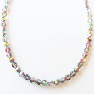 Collier en perles de cristal Swarovski 6mm vert Vitrail Medium
