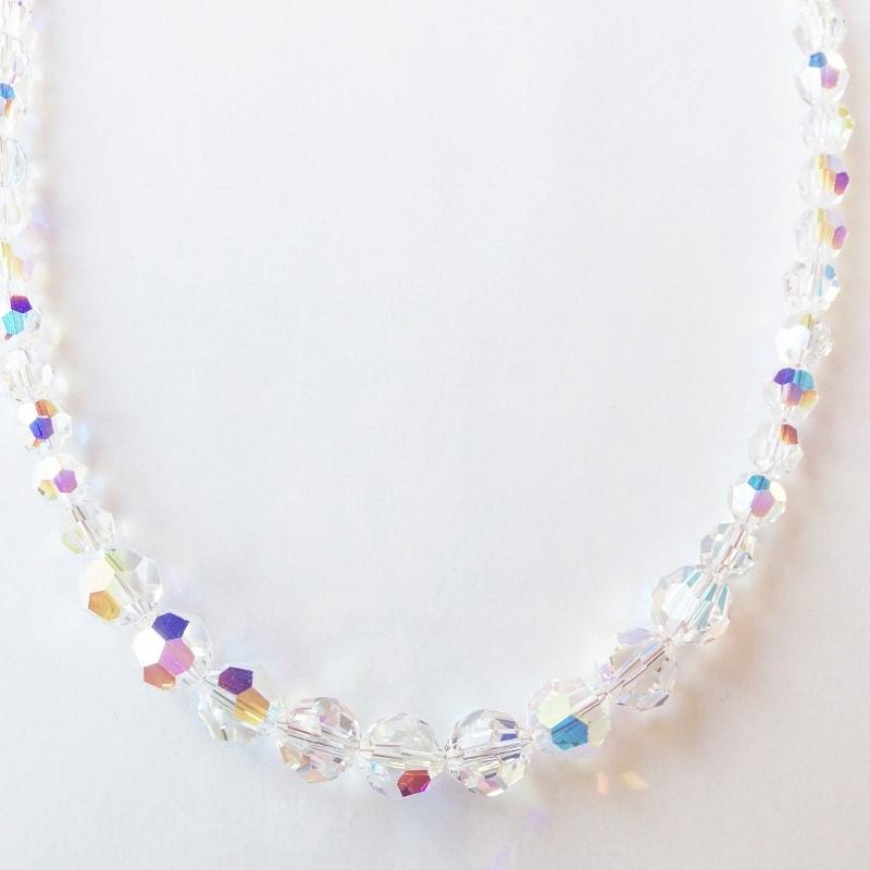 colliers swarovski aurore boreale perles de 12 mm