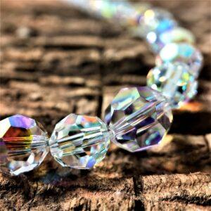 Collier perles cristal Swarovski pierres du Rhin
