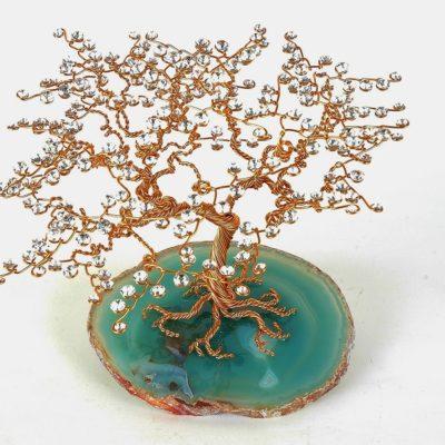 Sculpture arbre en métal et cristal Swarovski