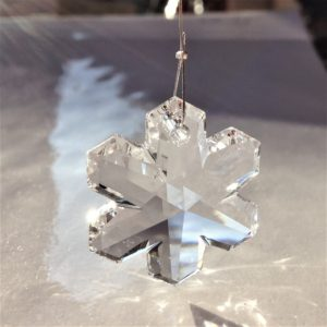 Prisme Flocon en cristal Swarovski à suspendre