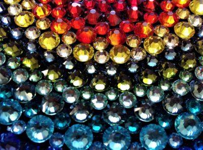 Mandala tableaux en perles de cristal Swarovski