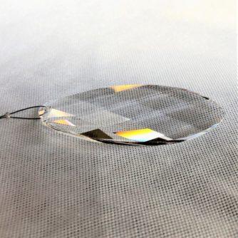 Prisme Ovale cristal Swarovski sur câble, bijou de fenêtre
